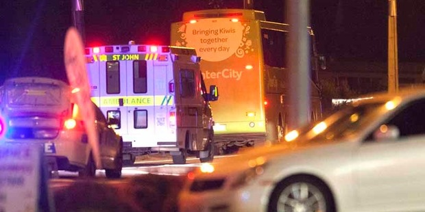 Loading A female pedestrian died after being struck by a bus in Rotorua this evening.  Photo/Ben Fraser