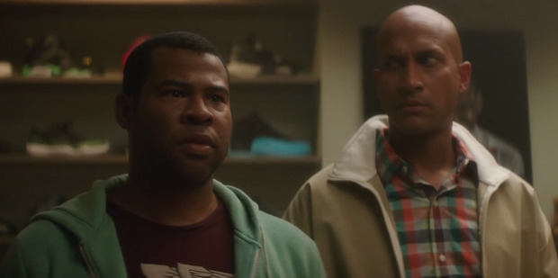 Jordan Peele and Keegan-Michael Key in a scene from the movie Keanu.