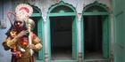 A performer on  Darwesh walking tour of Delhi.