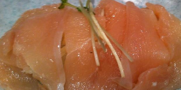 Raw chicken sushi. Photo / Katherine Alex Beaven