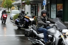 Social Cruizers New Zealand ride through Taradale as part of their Ride of Respect to raise funds for the local RSA yesterday morning. Photo / Paul Taylor
