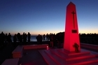 Anzac Dawn Service at the Cenotaph in Mt Maunganui.