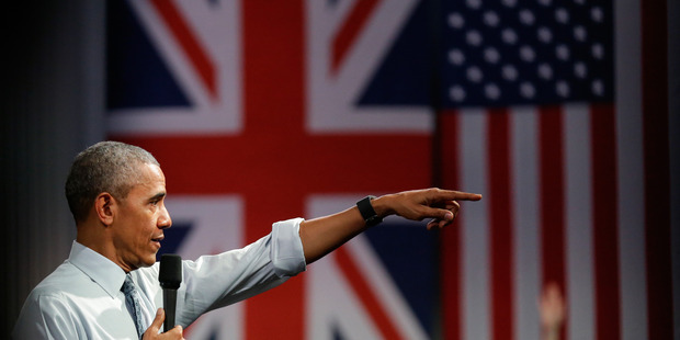US President Barack Obama has been blunt about the economic consequences of Britain voting to leave the European Union. Photo / AP