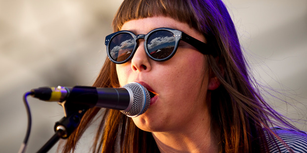 Emily Littler performs during the 2013 Laneway festival with Street Chant. The Kiwi group's new album has been a long time coming. Photo/Dean Purcell