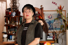 Activist Penny Bright pictured at home in Kingsland, Auckland. Photo / Chris Gorman