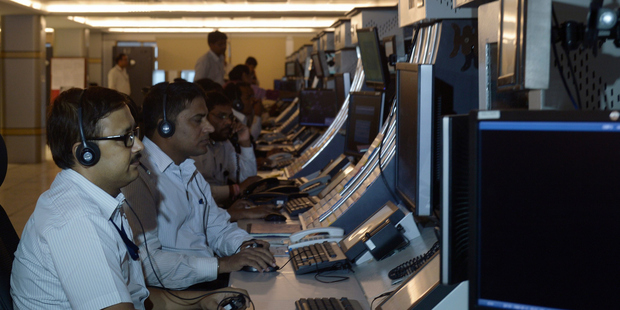 Indian air traffic controllers work at the ATC building at Netaji Subhash Chandra Bose International Airport in Kolkata. There is a massive demand for trained controllers across Asia. Photo / Getty