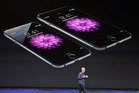 Apple chief executive Tim Cook launching the iPhone 6. Photo / AP
