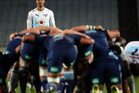 The Blues pack a scrum against the Bulls. Photo / Getty Images.