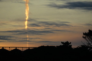 Aliens? A nuclear missile test? Probably not, but it's still curious. Photo / Supplied