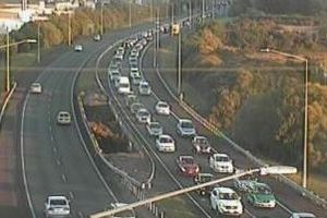 Traffic is heavy near Drury on SH1. Photo / NZ Transport Agency