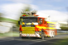 Emergency services were called at 5.55pm and three fire engines and two tankers are on the scene, a Fire Service spokesman said.