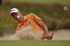 David Smail hits out of a bunker during the 2011 Australian Masters. Photo / Getty Images