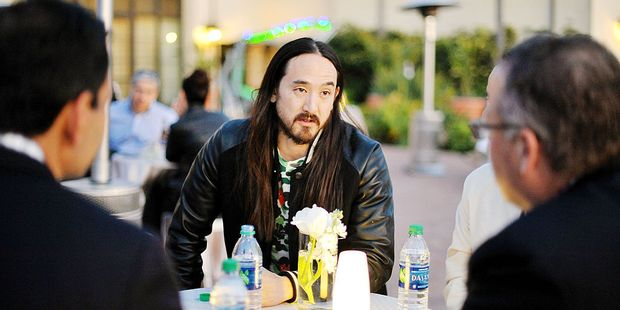 DJ Steve Aoki got everyone moving at the PTTOW! Summit at Terranea Resort. Photo / Getty Images