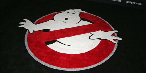 Loading The logo for the new Ghostbusters remake. Photo / Getty Images