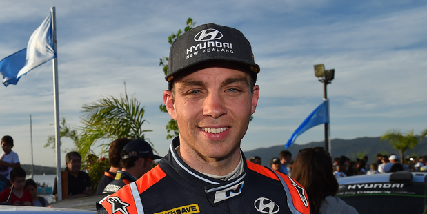 Hayden Paddon of New Zealand at WRC Argentina 2016. Photo / Getty Images