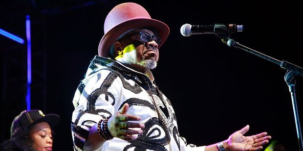 Congolese music star Papa Wemba performs during the Femua music festival in Abidjan before collapsing on stage. Photo / Getty Images