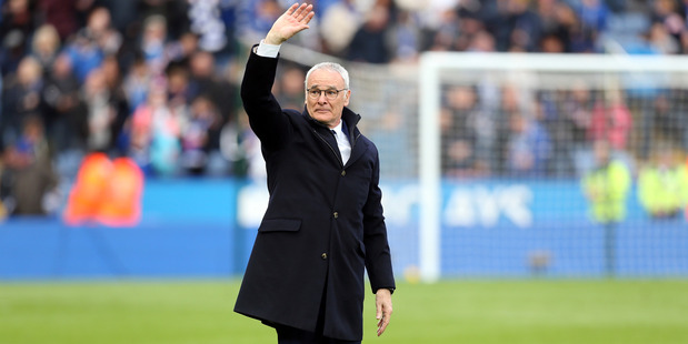Leicester City manager Claudio Ranieri during Leicester's 4-0 win over Swansea on Monday morning (NZT). Photo / Getty Images