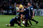 A defensive masterclass lifted the Highlanders to victory over the Brumbies. Photo / Getty