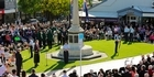 Anzac Service Havelock North cenotaph.