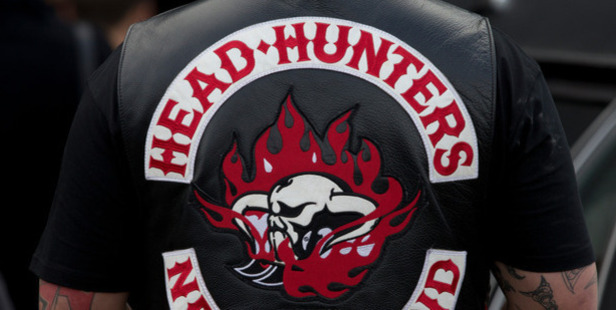 The man is understood to be a patched member of the Headhunters Motorcycle Club. File photo