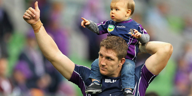 Ryan Hoffman played 245 games for the Melbourne Storm before joining the Warriors in 2015. Photo / Getty