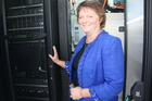 Northpower Chair Nikki Davies-Colley with the new data centre. Photo / Supplied