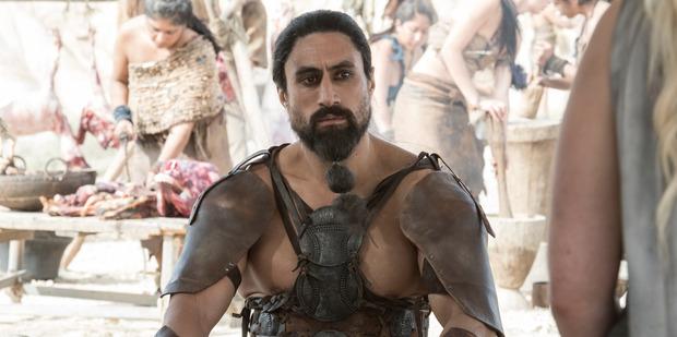 Joe Naufahu as Khal Moro in the latest season of Game of Thrones.