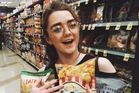 Maisie Williams planning snacks for the Game of Thrones viewing she decides to crash. Photo / Maisie Williams Instagram