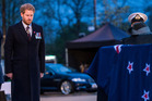 Prince Harry attends Anzac Day service