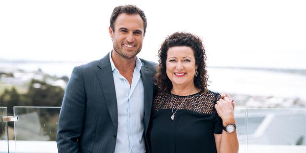 Jordan Mauger and his mum Linda Mauger.