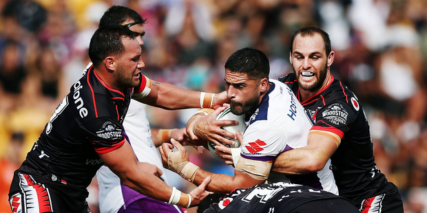 The Warriors hope they have absorbed lessons from their recent heart-breaking home defeat to the Melbourne Storm. Photo / Getty Images