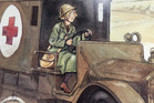 Gladys Sandford, served as a nurse during World War One, seen depicted in a children's book.