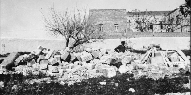 The desecrated Armenian cemetery at Jaffa, 1917. Photo / Supplied