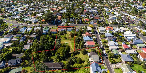A retiree who landbanked 7500sq m of prime Mt Albert real estate over 40 years is now selling the five neighbouring properties. Photo / Supplied