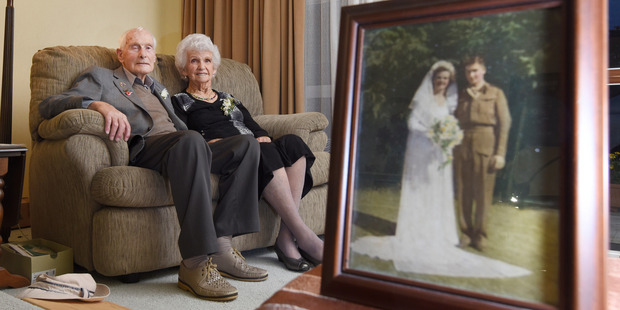 Eric and Nancy Taylor celebrated their 70th wedding anniversary yesterday. Photo / George Novak