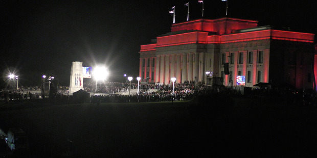Anzac service at the Auckland Domain. Photo / Daniel Hines
