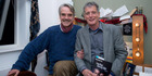 British actor Jeremy Irons with Gisborne High School teacher Gary File at the Bristol Old VIc Theatre. Photo / Supplied