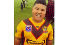 Eljae Pukeiti-Mara, aged 10 years from South Auckland was laughed at by sideline bullies for being a big boy during an under 10 Rugby League game 23 April 2016. Photo / Supplied