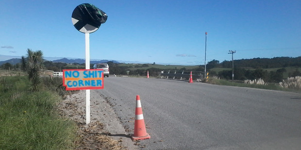The sign in the photo has appeared overnight. Photo / Supplied