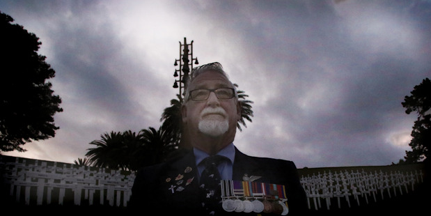 STANDING PROUD: Air Signalman Jock Hannaford who served in several theatres of war. PHOTO/STUART MUNRO