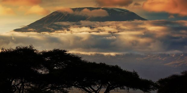 Mt Kilimanjaro at sunset. Photo / NZ Herald