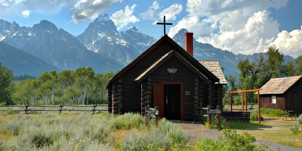 Chapel of the Transfiguration in the Teton National Park, Wyoming.