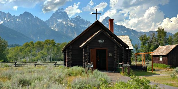 The Chapel of the Transfiguration in Teton National Park, Wyoming. Photo / Supplied