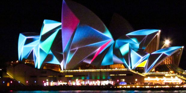 Sydney Opera House light festival.