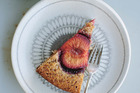 Plum and toasted hazelnut cake.