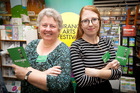 Tauranga Arts Festival Launch at Books and More. Programmer and Publicist Sandra Simpson (left) and Festival Director Claire Mabey.
