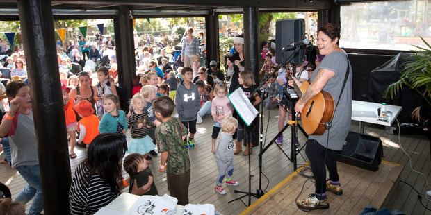 Loading Anika Moa put on a concert for Rotorua kids at Rainbow Springs today.   Photo/Ben Fraser