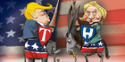 View: Cartoon: Trump vs Clinton?