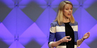 Yahoo CEO Marissa Mayer delivers the keynote address at the Yahoo Mobile Developer Conference in San Francisco. Photo / AP