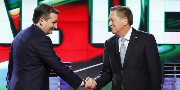 Loading Cruz and Kasich are bound by two self-serving goals. Photo / AP
